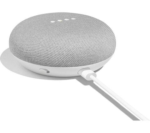 ◆Google NEST MINI ネストミニ チョーク 旧ホームミニ本体 Google アシスタント 小型スマートスピーカー bluetooth Wi-Fi 音声 認識 ハンズフリー ライトグレー 人工知能AI IOT Android iOS home mini