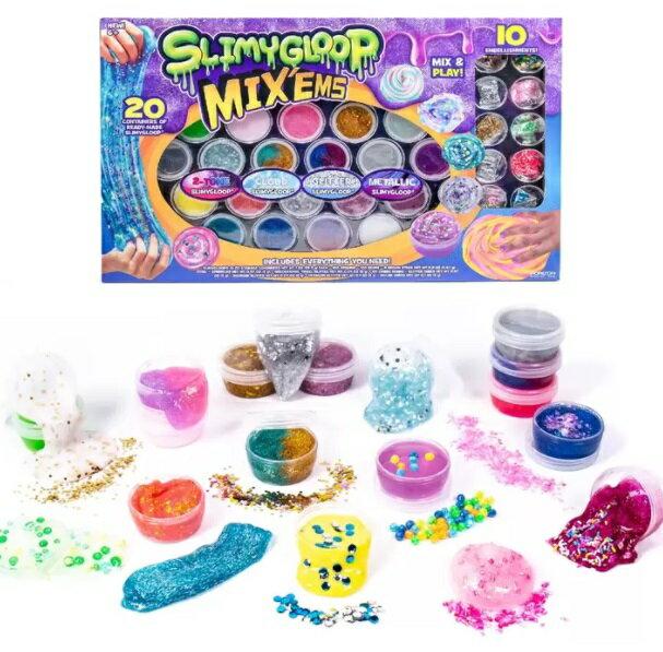 SLIMYGLOOP MIX'EMS スライム サプライズ 20種類のスライムと10種類のデコレーション スライム おもちゃ 工作画像
