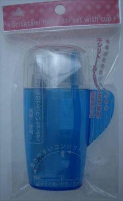 【まとめ買いがお得】OD−00KBコップ付折りたたみ歯ブラシセット ブルー(1コ) ×144個セット【25113】:ワールドデポ