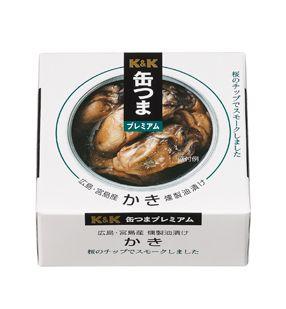 K&K 缶つまプレミアム 広島かき 燻製油漬けEO F3号缶 x6 1【4901592891266】【4901592891266】