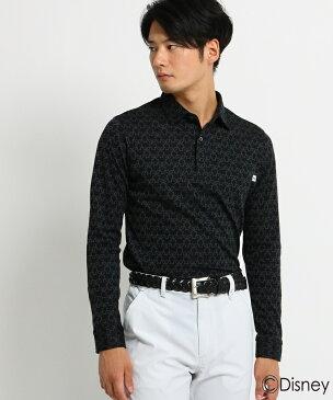 adabat(Men)(アダバット(メンズ))【ミッキーマウス】 胸ポケット付き 長袖ポロシャツ メンズ