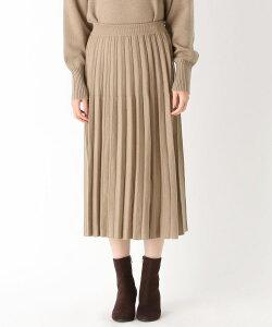 HusHusH(Ladies)(ハッシュアッシュ(レディース))【毛玉防止/洗濯機OK(ネット使用)】ニットプリーツスカート