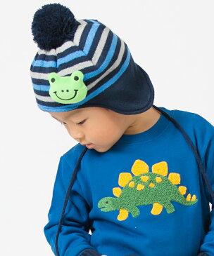 3can4on(Kids)(サンカンシオン(キッズ))ポンポン付きモチーフニット帽