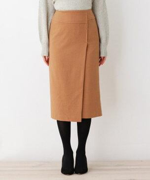 OPAQUE.CLIP(オペークドットクリップ)ウールブレンドラップナロースカート