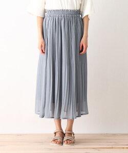 SHOO・LA・RUE(シューラルー)シフォン楊柳プリーツスカート