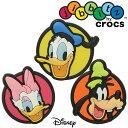クロックス crocs ジビッツ ミッキー フレンズ キッズ メンズ レディース 10006834 3個セット Mickey Friends 3-Packs ディズニー ドナルド デイジー グーフィー evid /- |3の商品画像