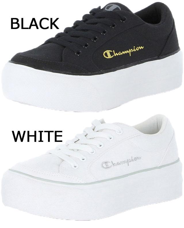 チャンピオンChampionレディース厚底スニーカージャムコートPTローカットカジュアルシューズCPLJ052プラットフォーム靴ブラック黒ホワイト白【送料無料】evid 6