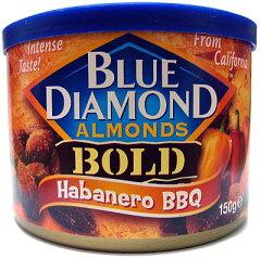 ビールやお酒にぴったりのナッツ! おやつにもどうぞ。ブルーダイヤモンド ハバネロバーバーベ...