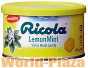 13種類のハーブエキスが使用されています。リコラ 100g缶 レモンミントハーブキャンディー