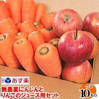 にんじんとりんごのジュース用セット送料無料10キロ
