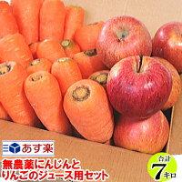 にんじんとりんごのジュース用セット送料無料7キロ