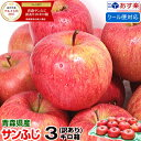 あす楽【クール便対応】青森りんご 訳あり サンふじ 3キロ箱