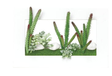 ポイント10倍《アートグリーン》《人工観葉植物》光触媒 光の楽園 光の楽園 3Dアート多肉植物