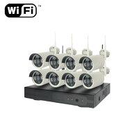 NVRWi-Fi防犯カメラシステム8機HDD1TB