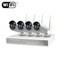 NVRWi-Fi防犯カメラシステム4機HDD1TB