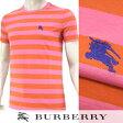 【2017春夏新作】 バーバリー/BURBERRY London England メンズ Tシャツ 4042921 (オレンジ/ピンクボーダー:ORANGE/ROSEPINK) 半袖/クルーネック
