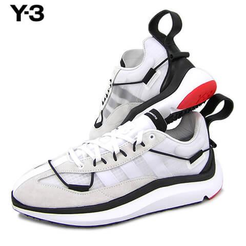 メンズ靴, スニーカー Y-3 SHIKU RUN FX1415 (CWWHITEBLACKRED) adidasYohji Yamamoto