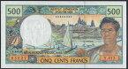 仏領ポリネシア 500 francs 1992-2010年