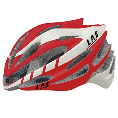 ラスGALAXYホワイト/レッドヘルメット