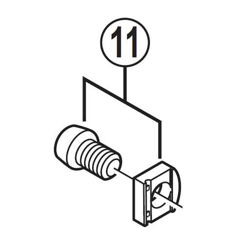 【M便】[11]ケーブル固定板&ボルト(M6×9)