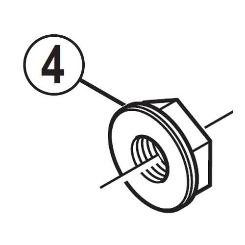 [4]ロックナット 【自転車】【ロードレーサー用】【SORA】【BR3500用スモールパーツ】
