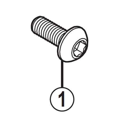 [1]取付ボルト(M6×16) 【自転車】【ロードレーサー用】【SORA】【BR-R353用スモールパーツ】