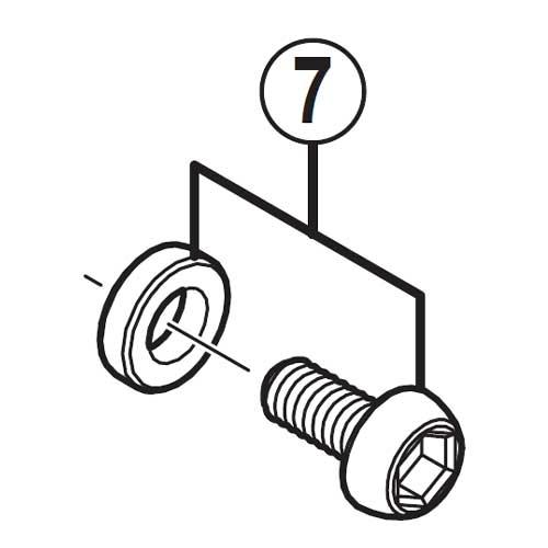 [7]ケーブル固定ボルト (M6 x 11.5)&板 (シルバー) 【自転車】【ロードレーサー用】【SORA】【BR-R353用スモールパーツ】