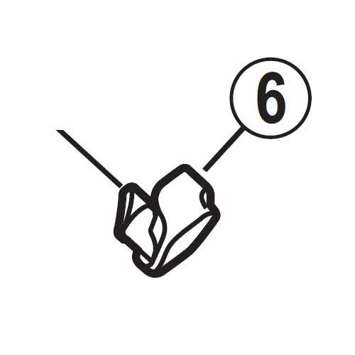 【M便】[6]解除レバー受け(左用)