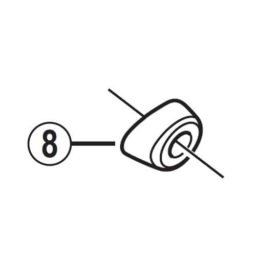 [8]アウター受けキャップ(ケーブルアジャスターなしタイプ) 【自転車】【ロードレーサー用】【SORA】【ST3500用スモールパーツ】