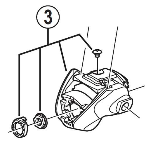 [3]アウター受けユニット(右用) 【自転車】【ロードレーサー用】【SORA】【ST3500用スモールパーツ】