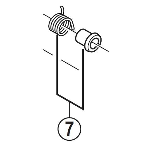 [7]リターンスプリング(右用)&スペーサー 【自転車】【ロードレーサー用】【SORA】【ST3500用スモールパーツ】