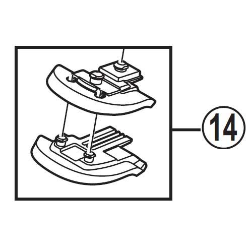 【M便】[14]アジャストブロック 4°&8°(右用)