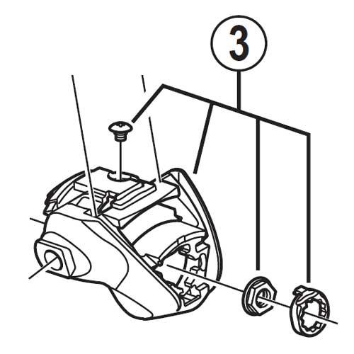 [3]アウター受けユニット(左用) 【自転車】【ロードレーサー用】【SORA】【ST3500用スモールパーツ】