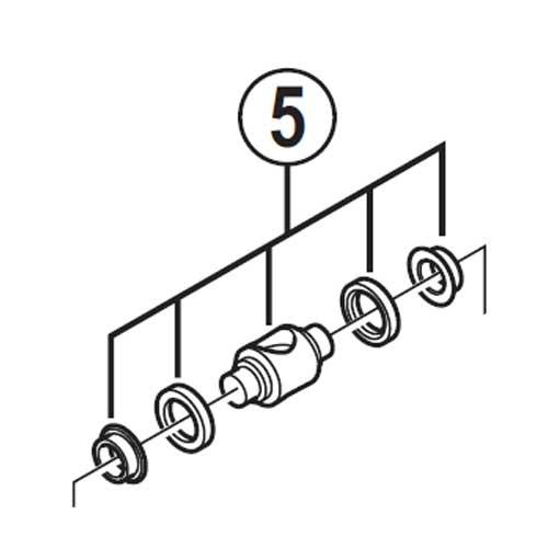 [5]ワイヤー掛けユニット 【自転車】【ロードレーサー用】【SORA】【ST3503用スモールパーツ】
