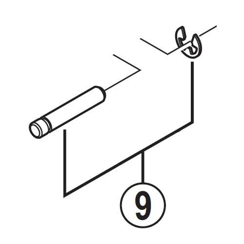 [9]レバー軸&Eリング 【自転車】【ロードレーサー用】【SORA】【ST3503用スモールパーツ】