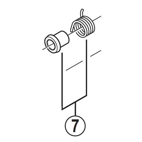 [7]リターンスプリング(左用)&スペーサー 【自転車】【ロードレーサー用】【SORA】【ST3503用スモールパーツ】