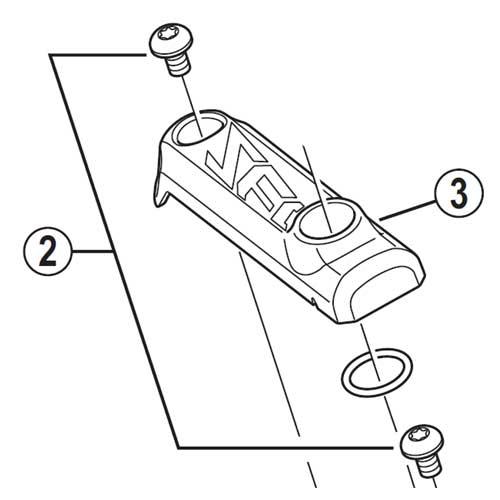 [2]リッド固定ボルト(M3)2個 【自転車】【マウンテンバイク用】【ZEE】【BLM640用スモールパーツ】