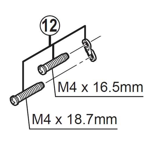 [12]ストロークアジャストボルト&プレート 【自転車】【マウンテンバイク用】【ZEE】【RDM640用スモールパーツ】