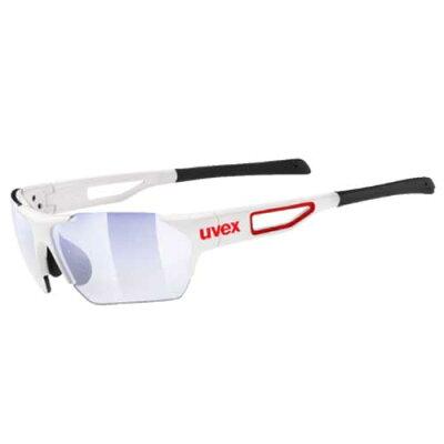 ウベックススポーツスタイル202スモールRACEVARIOサングラスホワイトレッド(調光レンズ)