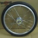 ワールド 20インチフロントホイール アルミリム ハブダイナモ付(01A) タイヤチューブセット