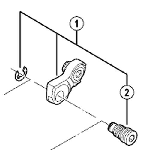 【M便】[1]ブラケット軸ユニット(ノーマルタイプ)