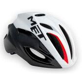 【現品特価】メット リヴァーレ HES ホワイト×ブラック×レッド ヘルメット