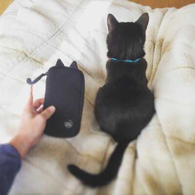【あす楽】【M便】ポケマルにゃ〜ポーチ猫耳ブラック