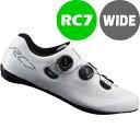シマノ RC7(SH-RC701) ホワイト ワイドタイプ SPD-SL シューズ BOA