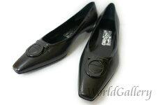 【展示品】【美品】フェラガモferragamoレディース靴パンプスガンチー二ロゴブラック黒blackサイズ623,5cm【中古】
