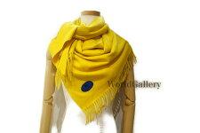 【未使用】【展示品】バーバリーBURBERRYレディース婦人カシミヤカシミヤ100%素材yellow黄色イエローロゴ送料無料【中古】