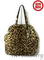【中古】【美品】プラダPRADAかばん鞄バッグショルダーバッグレザー革本革ハラコレオパード豹ブラウンベージュBR3511