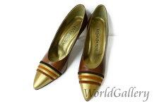 【中古】【美品】イヴサンローランYVESSAINTLAURENTレディース婦人靴パンプスサイズ3623cm茶系ブラウン