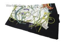 【未使用】【展示品】グッチGUCCIレディース婦人スカーフ小物花柄フローラル白ホワイト植物柄シルクSILK100%送料無料【中古】