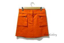 【中古】ルイヴィトンLOUISVUITTONヴィトンレディース婦人ファッションスカートオレンジサイズ34